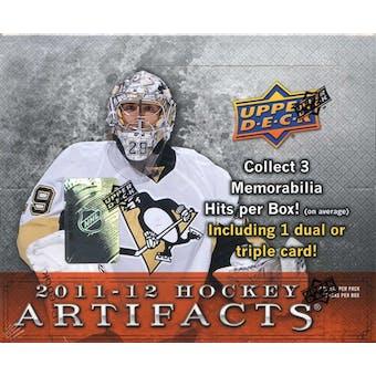 2011/12 Upper Deck Artifacts Hockey Hobby Box