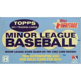 2011 Topps Heritage Minor League Edition Baseball Hobby Box