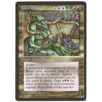 Magic the Gathering Legends Single Nicol Bolas Italian - MODERATE PLAY (MP)