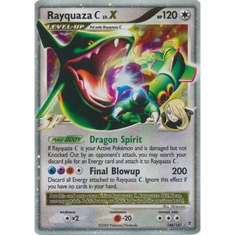 Pokemon Supreme Victors Single Rayquaza C lv. X 146/147 - NEAR MINT (NM)