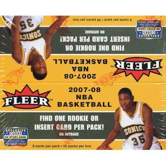 2007/08 Fleer Basketball 36-Pack Box