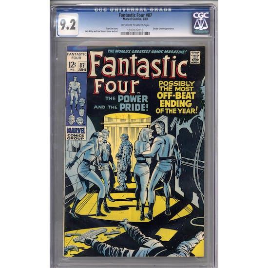 Fantastic Four #87 CGC 9.2 (OW-W) *1017077013*