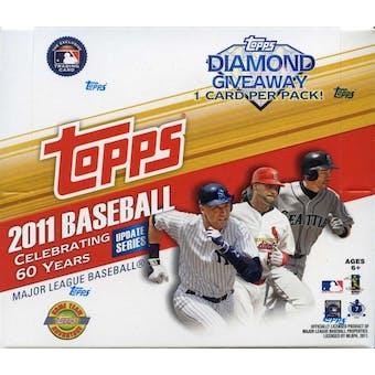 2011 Topps Updates & Highlights Baseball Jumbo Box