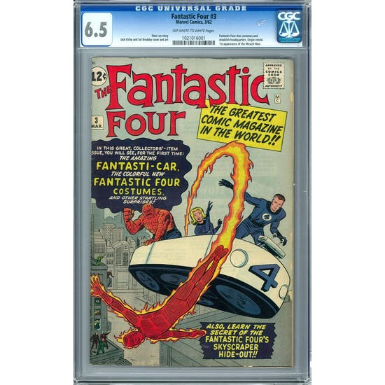 Fantastic Four #3 CGC 6.5 (OW-W) *1021016001*