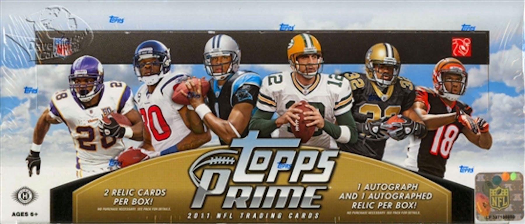 2011 Topps Prime Football Hobby Box Da Card World