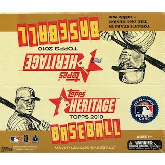 2010 Topps Heritage Baseball 24-Pack Box
