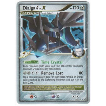 Pokemon Platinum Single Dialga G lv. X 122/127 - MODERATE PLAY (MP)
