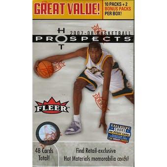 2007/08 Fleer Hot Prospects Basketball 12-Pack Box