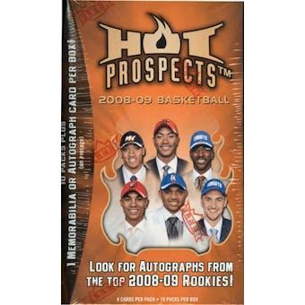 2008/09 Fleer Hot Prospects Basketball 10-Pack Blaster Box
