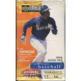 1998 Upper Deck Collector's Choice Series 2 Baseball Hobby Box