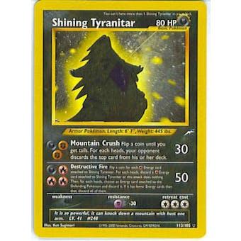 Pokemon Neo Destiny Single Shining Tyranitar 113/105