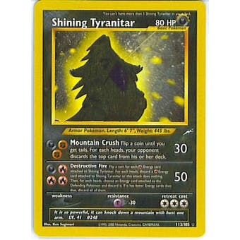 Pokemon Neo Destiny Single Shining Tyranitar 113/105