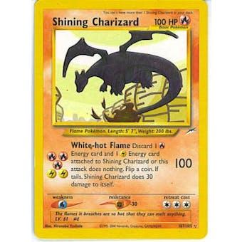 Pokemon Neo Destiny Single Shining Charizard 107/105 - SLIGHT / MODERATE PLAY (SP/MP)