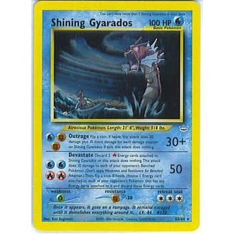 Pokemon Neo Revelations Single Shining Gyarados 65/64 - MODERATE PLAY (MP)