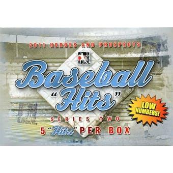 2011 ITG Heroes & Prospects Hits Series 2 Baseball Hobby Box