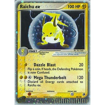 Pokemon Sandstorm Single Raichu ex 98/100 - SLIGHT PLAY (SP)