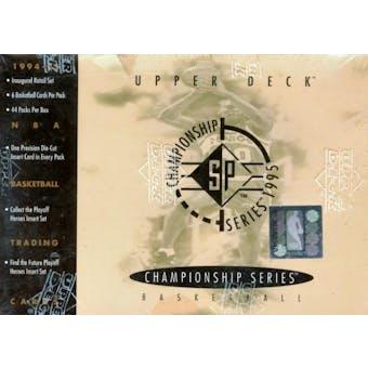 1994/95 Upper Deck SP Championship Basketball Hobby Box