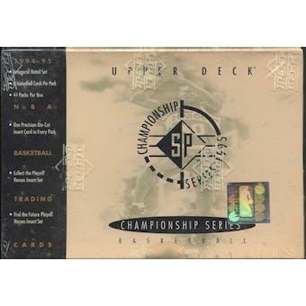 1995/96 Upper Deck SP Championship Basketball Hobby Box