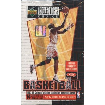 1997/98 Upper Deck Collector's Choice Series 2 Basketball 36 Pack Box