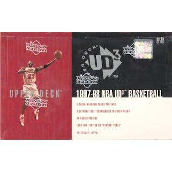 1997/98 Upper Deck UD3 Basketball Hobby Box