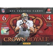 2011 Panini Crown Royale Football Hobby Box