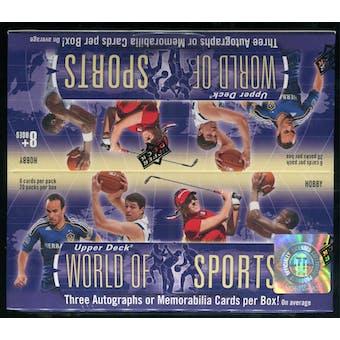 2011 Upper Deck World of Sports Hobby Box