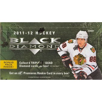 2011/12 Upper Deck Black Diamond Hockey Hobby Box