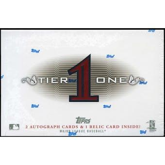 2011 Topps Tier One Baseball Hobby Box