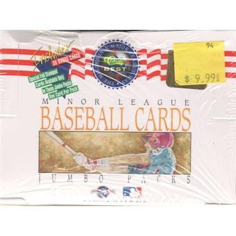 1993 Classic Best Baseball Jumbo Box