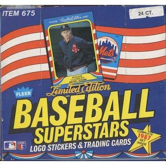 1987 Fleer Baseball Superstars Set Box