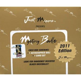 2011 Just Minors Mystery Balls Baseball Hobby Box