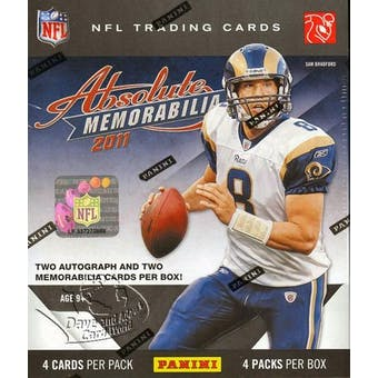 2011 Panini Absolute Memorabilia Football Hobby Box