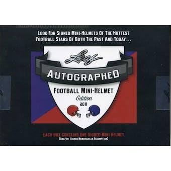 2011 Leaf Autographed Mini Helmet Edition Football Hobby Box