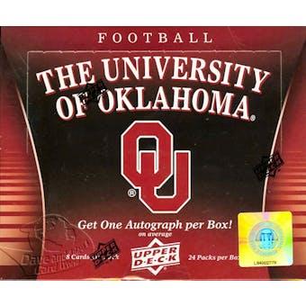 2011 Upper Deck University of Oklahoma Football Hobby Box (1 Autograph Per Box!)