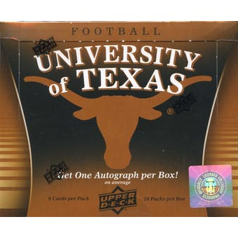 2011 Upper Deck University of Texas Football Hobby Box (1 Autograph Per Box!)
