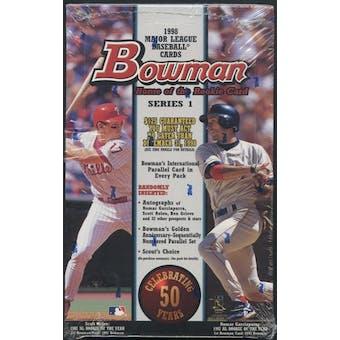 1998 Bowman Series 1 Baseball Retail Box
