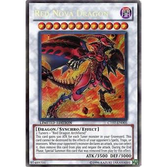 Yu-Gi-Oh Limited Edition Tin Single Red Nova Dragon Secret Rare (CT07-EN005) - NEAR MINT (NM)