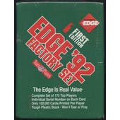 1992 Collector's Edge First Edition Football Factory Set (Reed Buy)