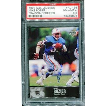 1997 Upper Deck Legends Autographs #AL36 Mike Rozier PSA 8.5 NM-MT+ *9896