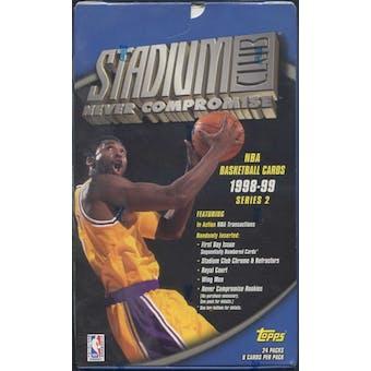 1998/99 Topps Stadium Club Series 2 Basketball Retail Box