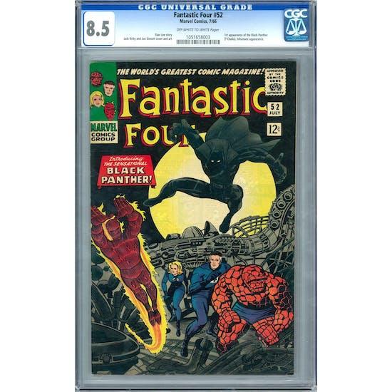 Fantastic Four #52 CGC 8.5 (OW-W) *1051658003*