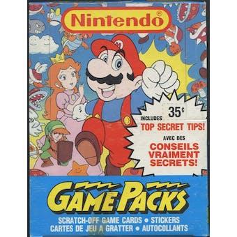 Nintendo Game Packs Wax Box (1989 O-Pee-Chee)