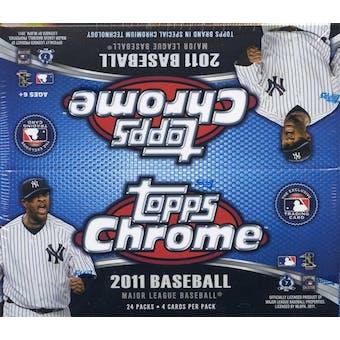 2011 Topps Chrome Baseball 24-Pack Box