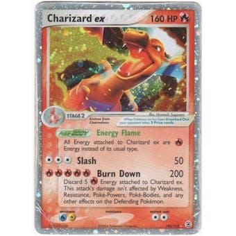 Pokemon Fire Red Leaf Green Single Charizard ex 105/112 HEAVY PLAY