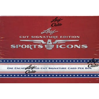 2011 Leaf Sports Icons Cut Signature Edition Hobby Box