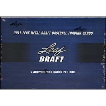 2011 Leaf Metal Draft Baseball Hobby Box