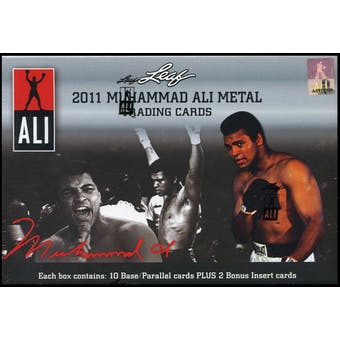 2011 Leaf Muhammad Ali Metal Boxing Hobby Box