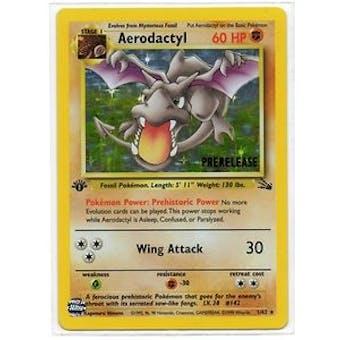 Pokemon Fossil 1st Edition Single Aerodactyl 1/62 - Prerelease Promo