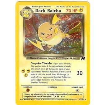 Pokemon Team Rocket 1st Edition Single Dark Raichu 83/82 - SLIGHT PLAY (SP)
