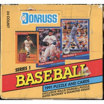 1991 Donruss Series 1 Baseball Cello Box